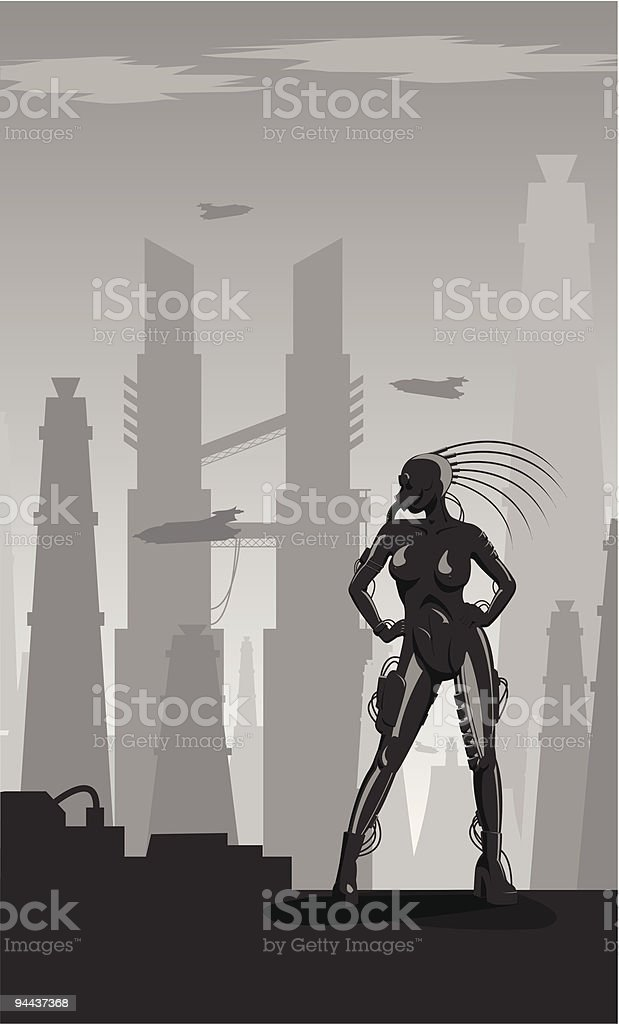 Industrial gothic girl royalty-free industrial gothic girl stock vector art & more images of adult