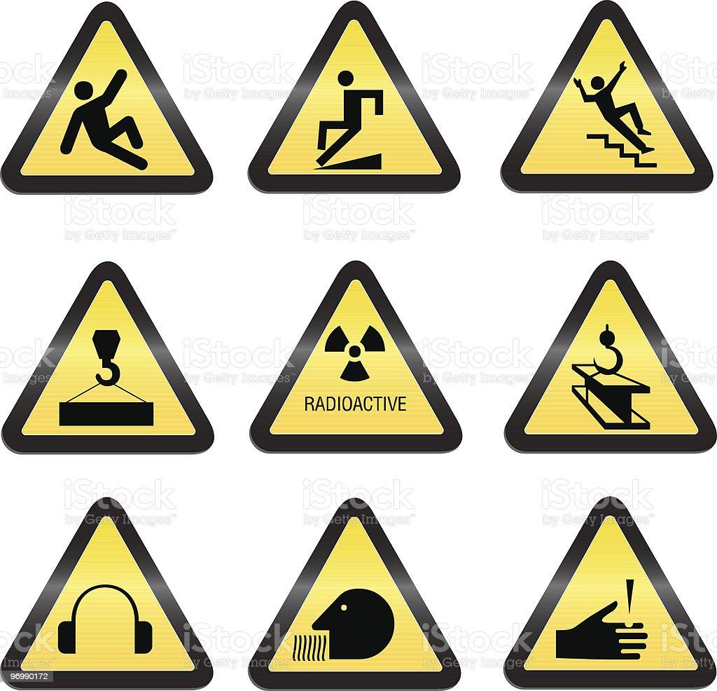 industrial hazard signs royalty-free stock vector art