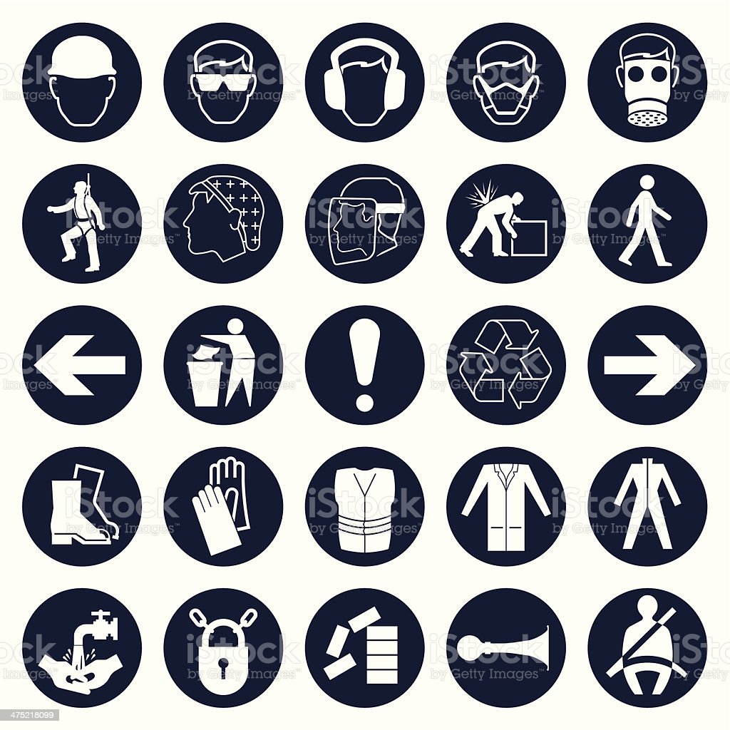 Industrial icon collection vector art illustration
