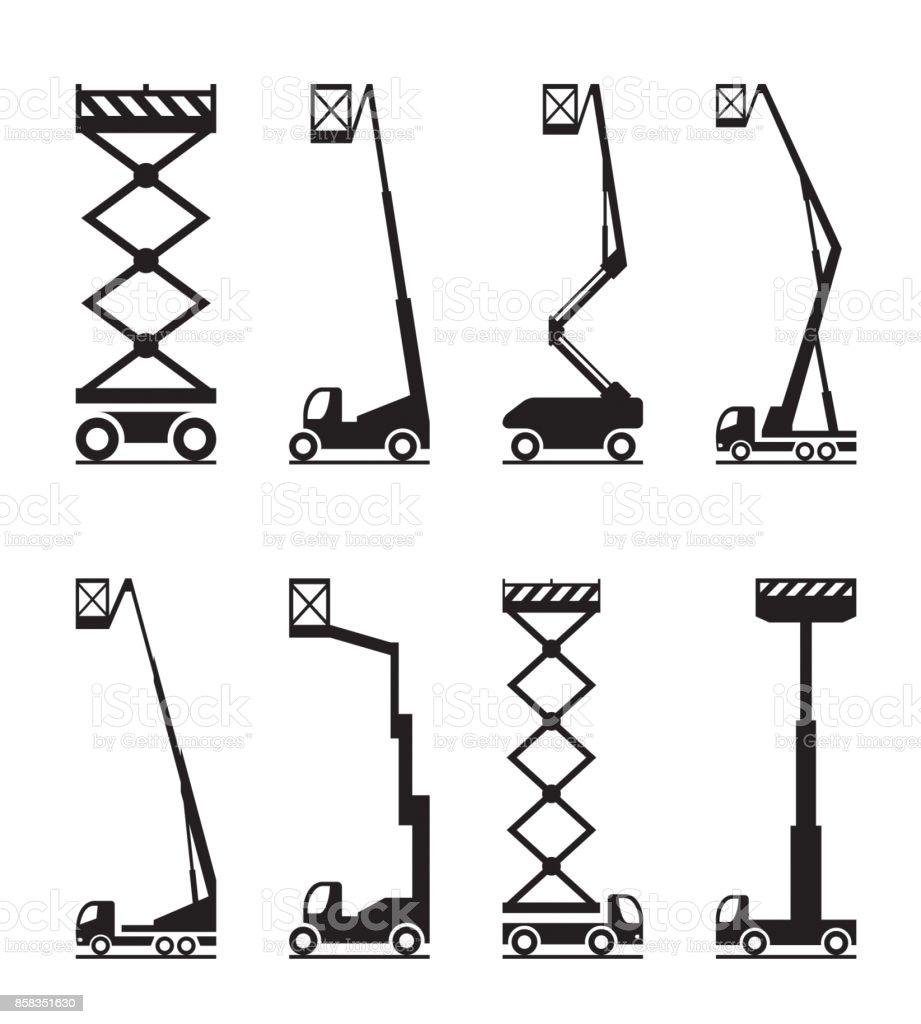 Industrial lifting equipment vector art illustration