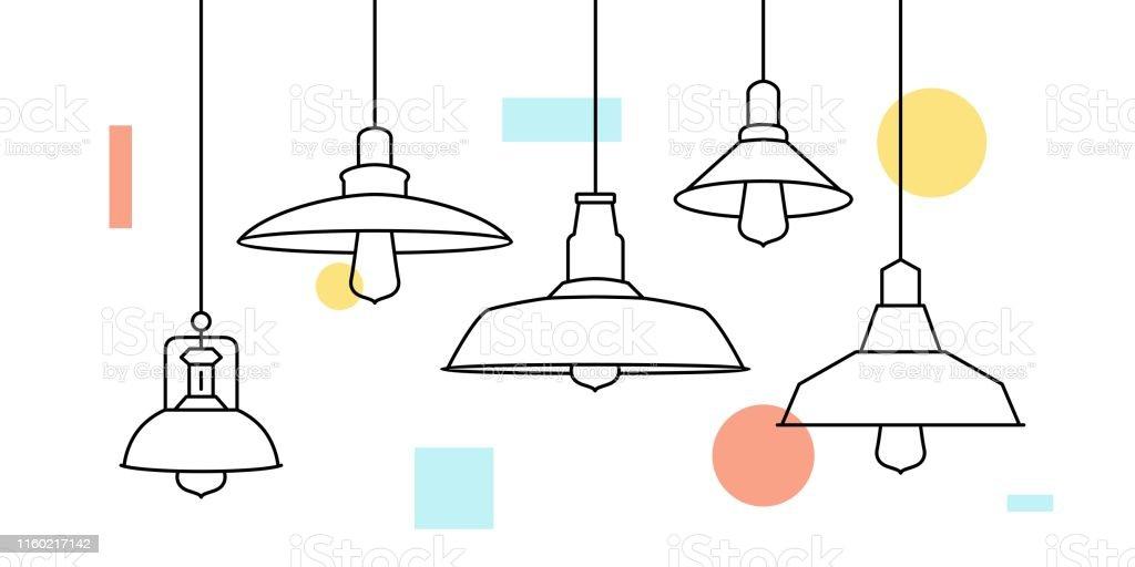 de Industrial Ilustración Metal Lámpara Loft Loft Colgante dCxBoe