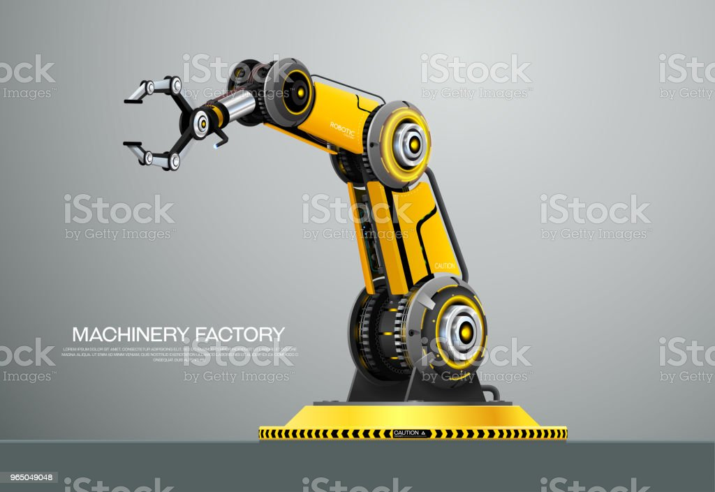 Industrial machine robotic robot arm hand factory royalty-free industrial machine robotic robot arm hand factory stock vector art & more images of arm