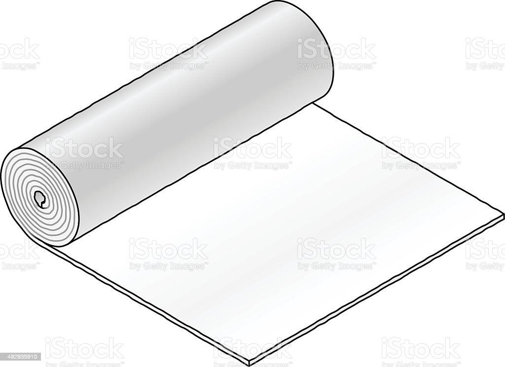 Industrial material roll vector art illustration