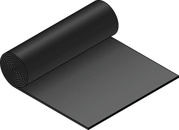 industrial material roll - aluminum foil roll stock illustrations, clip art, cartoons, & icons