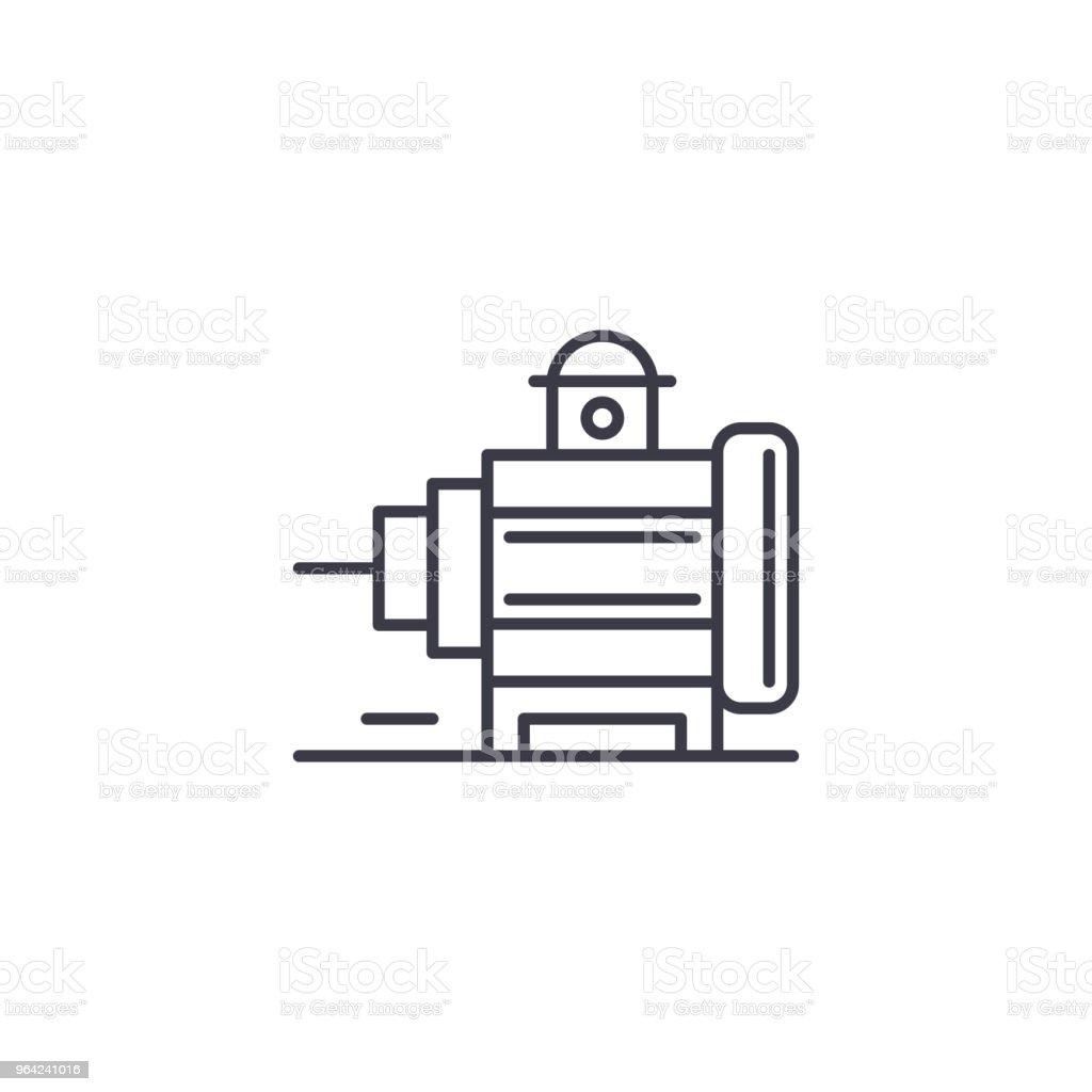 Industriele Motor Lineaire Pictogram Concept Industriele Motor Lijn