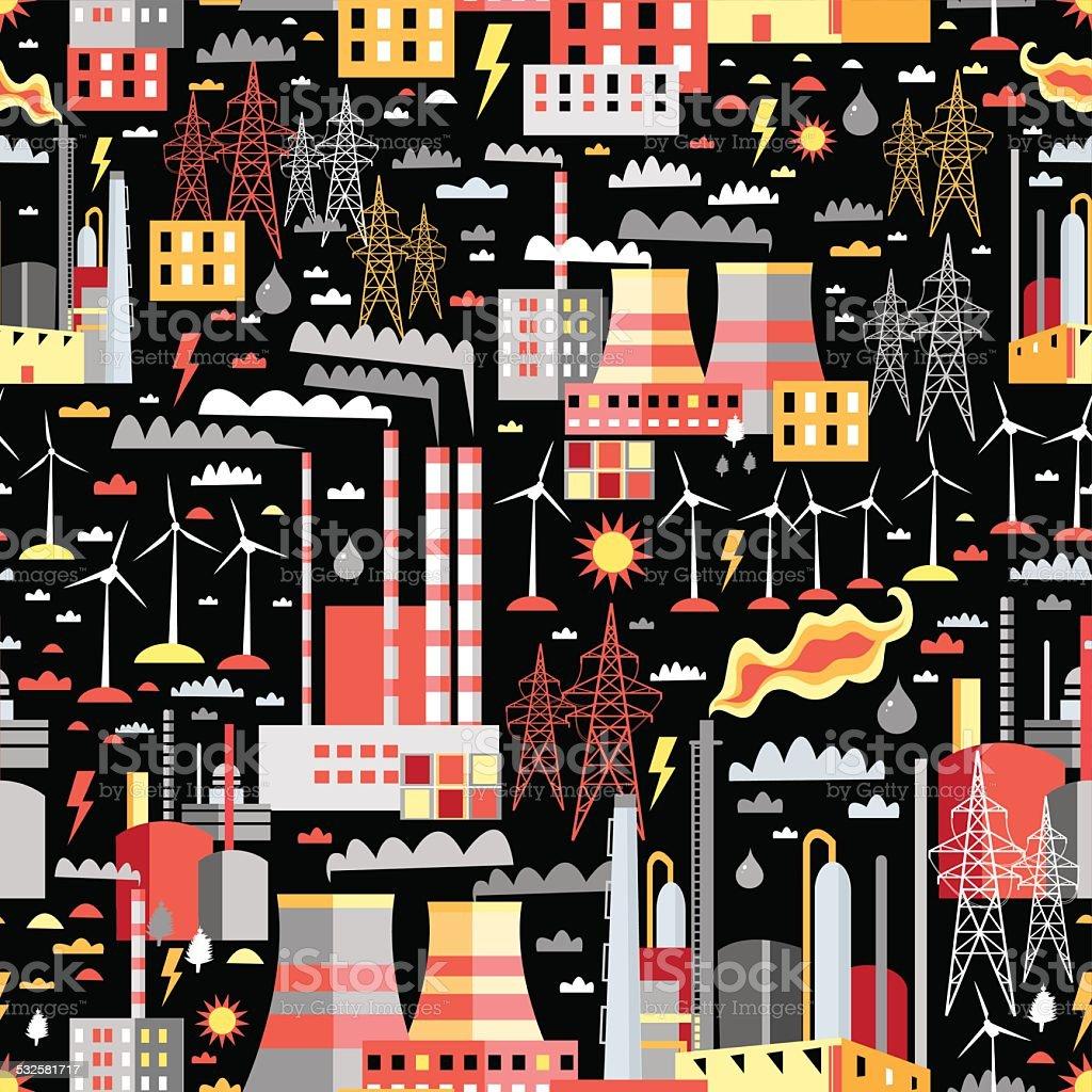 industrial pattern vector art illustration