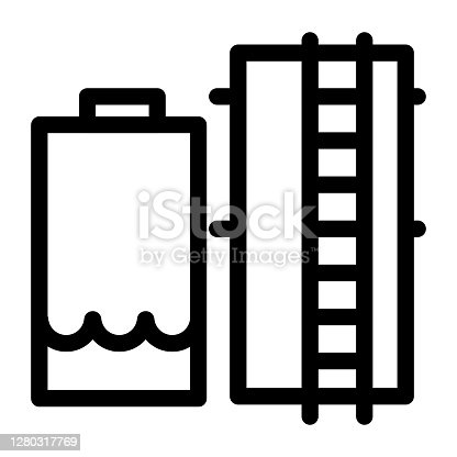 Industrial plant boiler icon. Factory boiler room vector icon on white background. Thermal, steam boiler illustration for perfect website and page design.