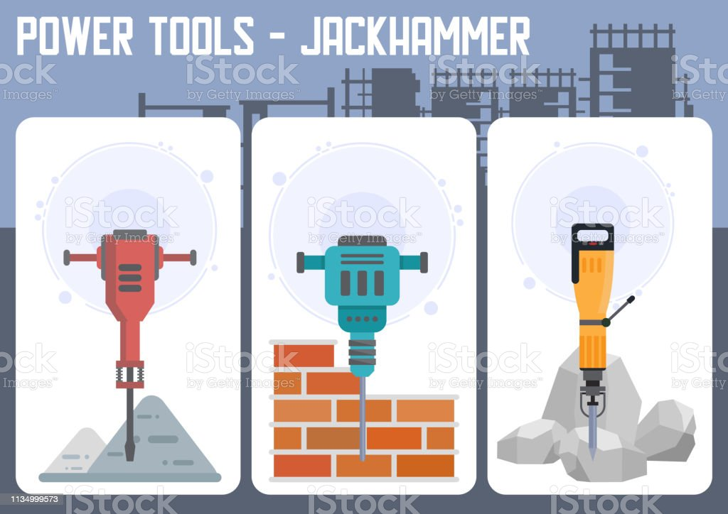 industrial power tools shop flat vector web banner stock illustration -  download image now - istock  istock