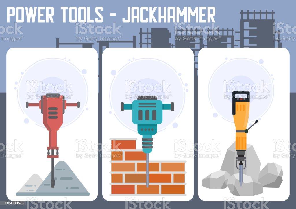 industrial power tools shop flat vector web banner stock illustration -  download image now - istock  istock