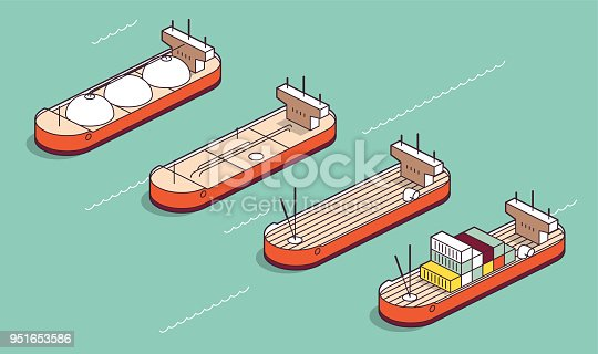 industrial ships - isometric