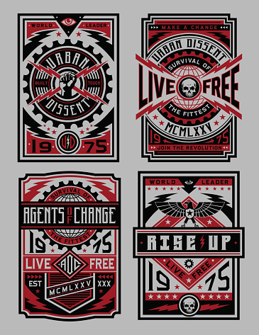 Industrial Style Poster Set