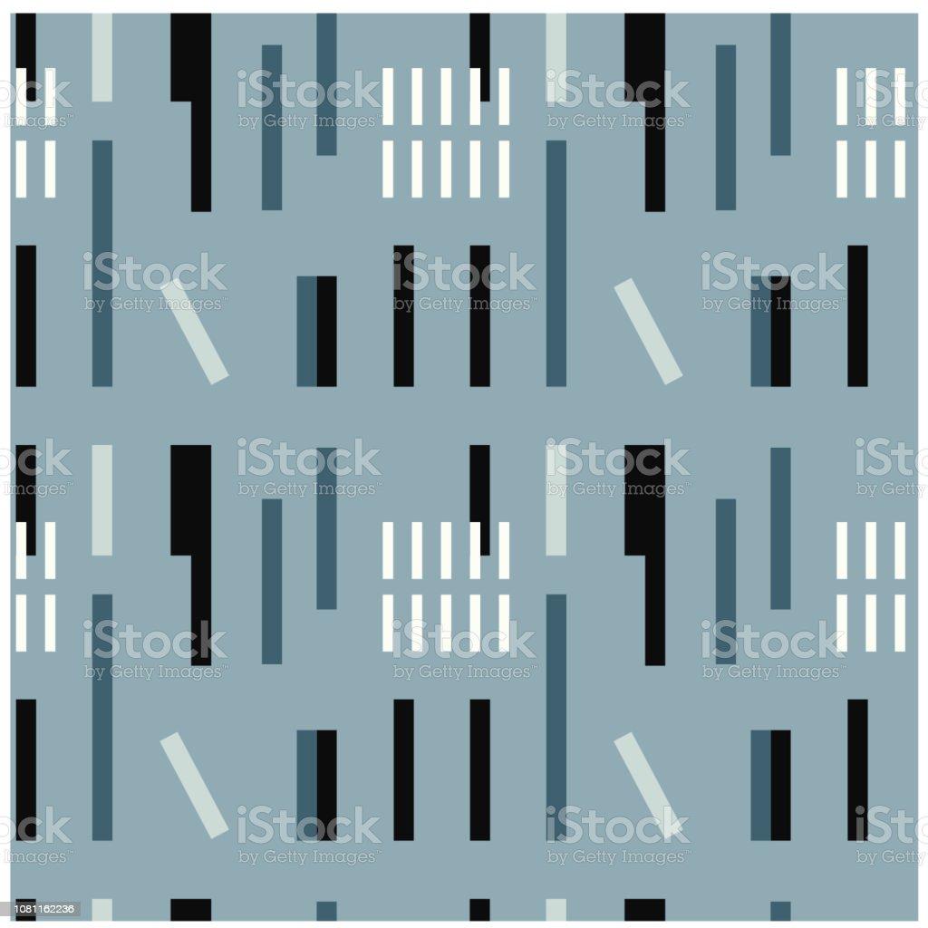 Industrial uneven geometric seamless pattern vector art illustration