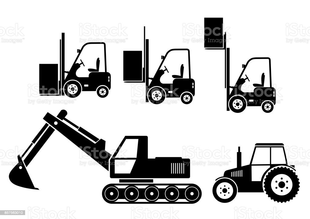 Industrial Vector Icons Stock Illustration