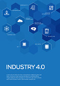 Industry 4.0 Brochure Template Layout, Cover Design