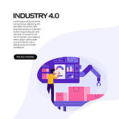 istock Industry 4.0 Concept Vector Illustration for Website Banner, Advertisement and Marketing Material, Online Advertising, Business Presentation etc. 1282271715