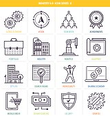 Thin line icons set. Symbols for future business and online economy.