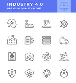 Industry 4.0 Line Icon Series