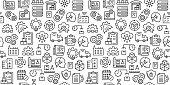 Industry 4.0 Seamless Pattern