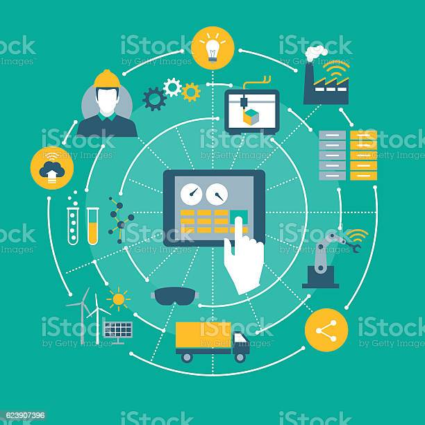 Industry 40 Stock Illustration - Download Image Now