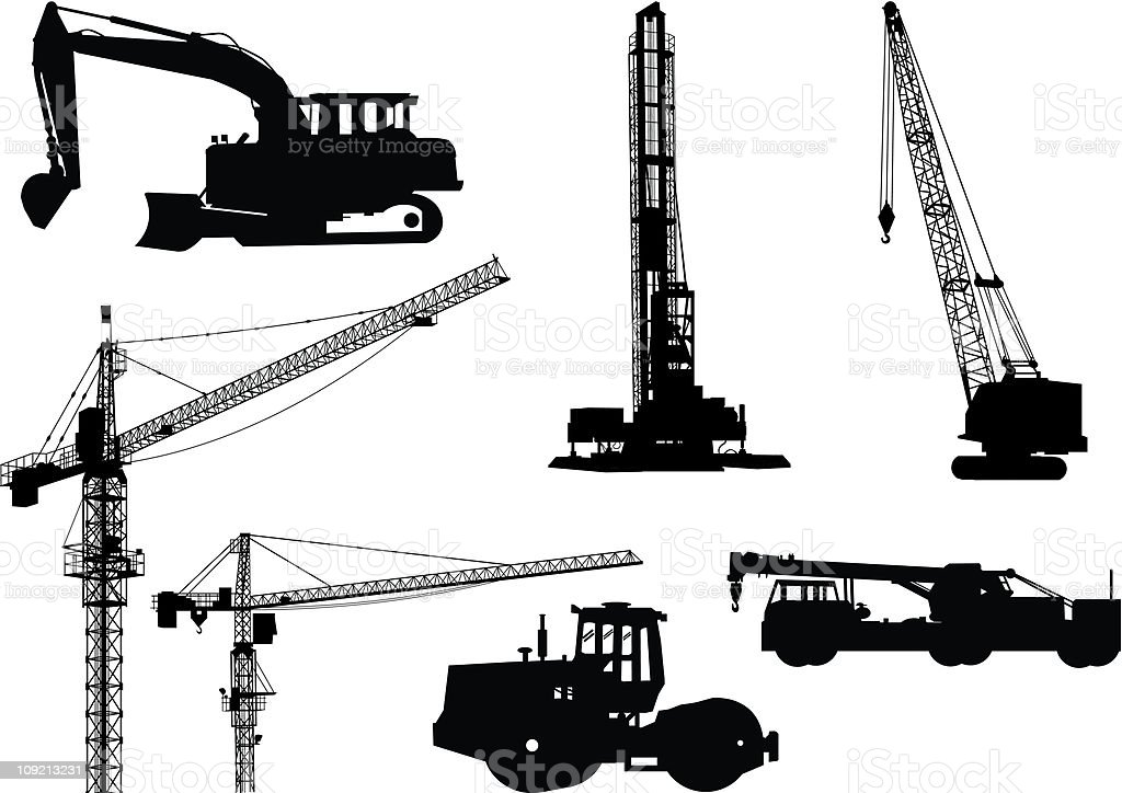 industry and Construction equipment royalty-free stock vector art