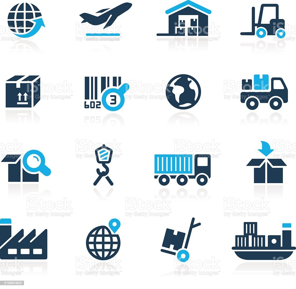 Industry and Logistics Icons - Azure Series