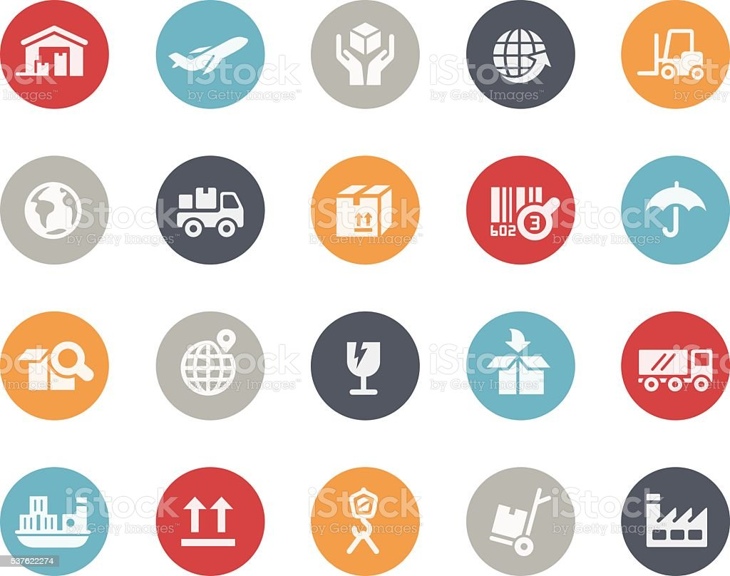 Industry and Logistics Icons // Classics vector art illustration