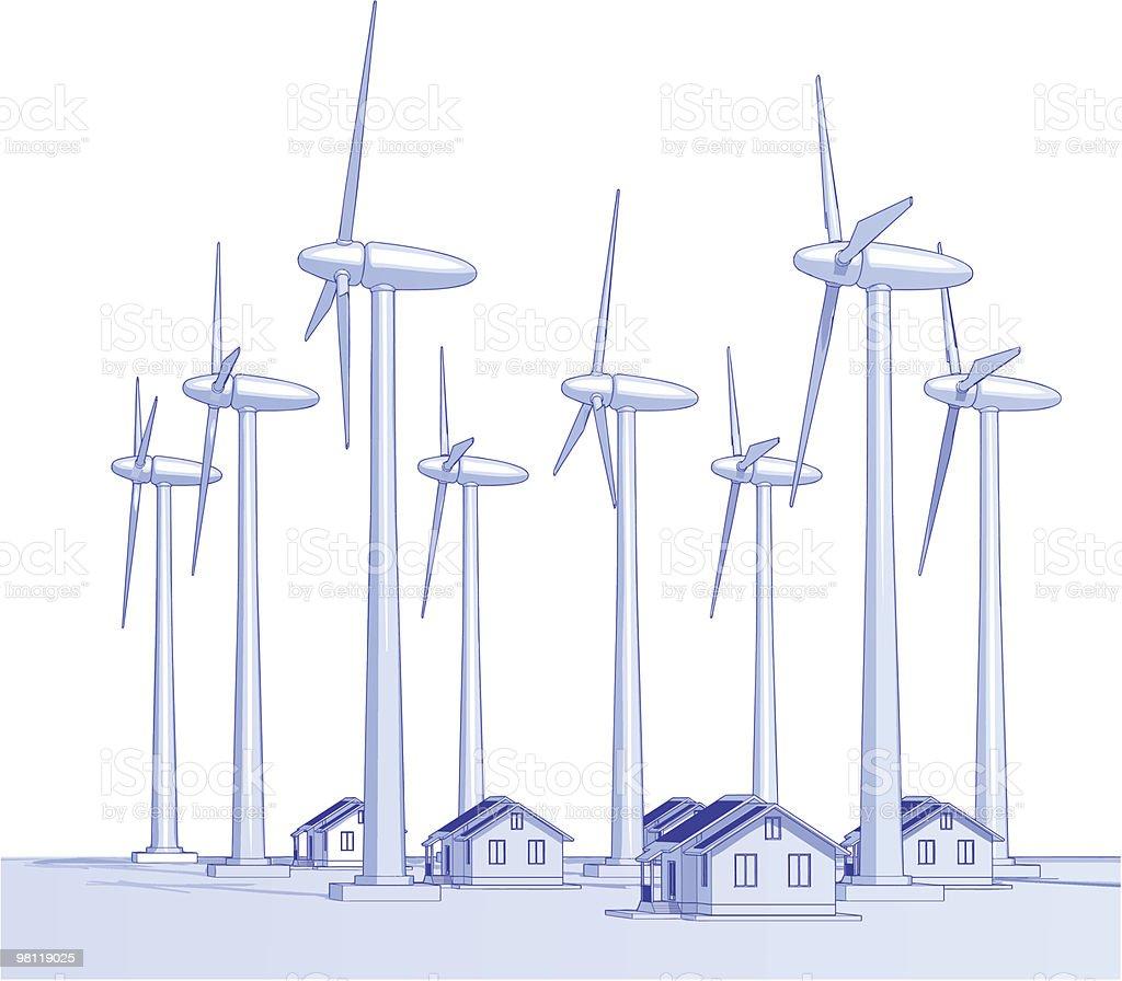 산업 컨셉입니다: 풍차 & 주택 royalty-free 산업 컨셉입니다 풍차 주택 0명에 대한 스톡 벡터 아트 및 기타 이미지