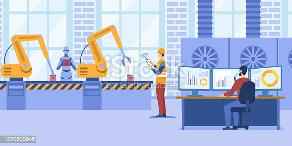 istock Industry concept with assembly plant 1270500945