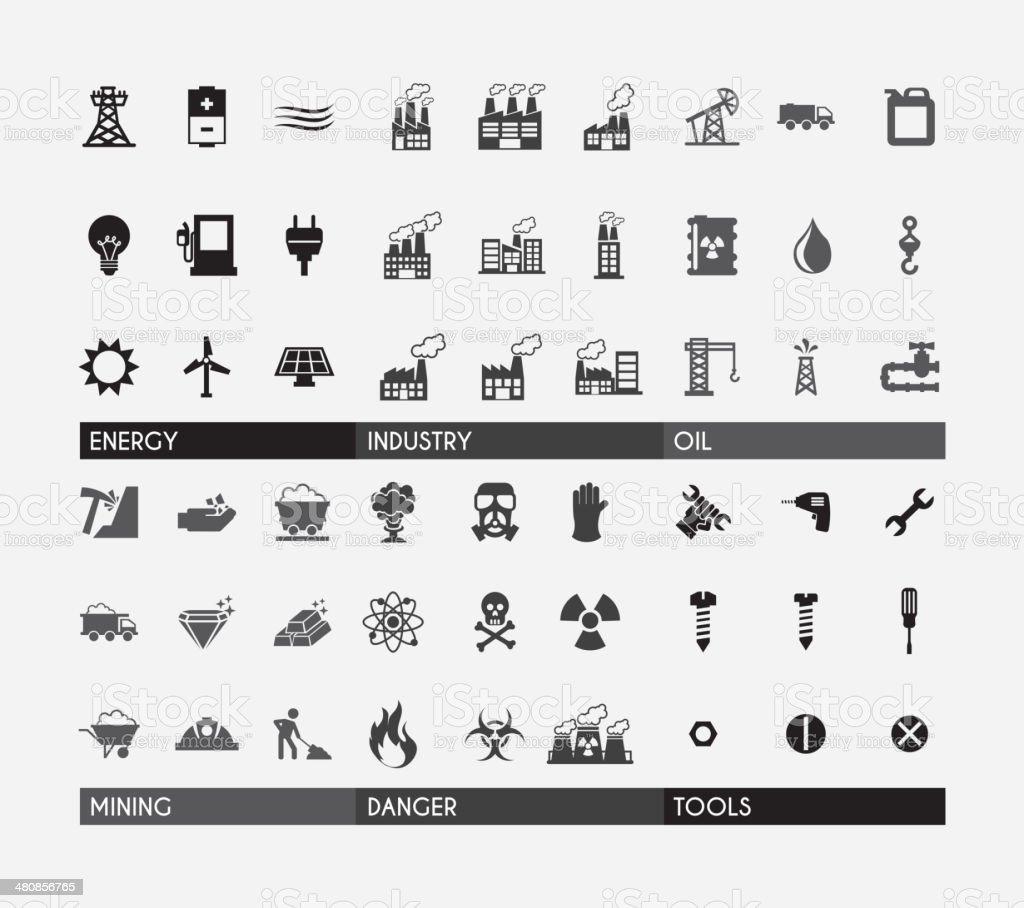 Industry Design vector art illustration
