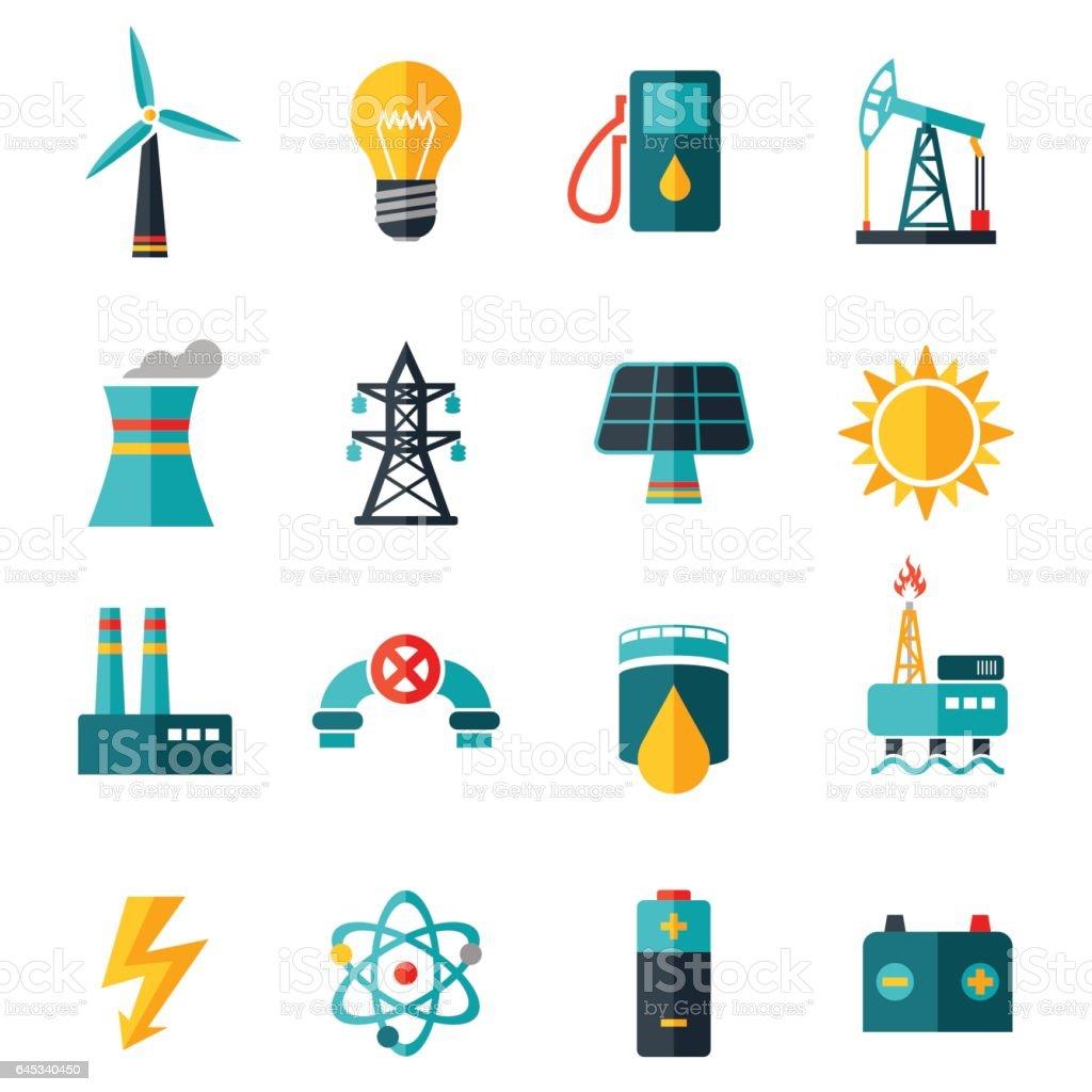 Industry Flat Icons - illustration vector art illustration