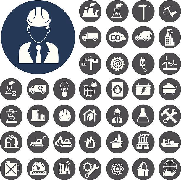 Industrie-Ikonen-set.  Vektor-Illustration eps10 – Vektorgrafik