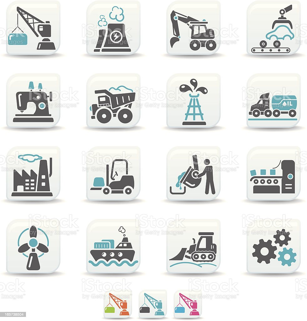 industry icons | simicoso collection royalty-free stock vector art