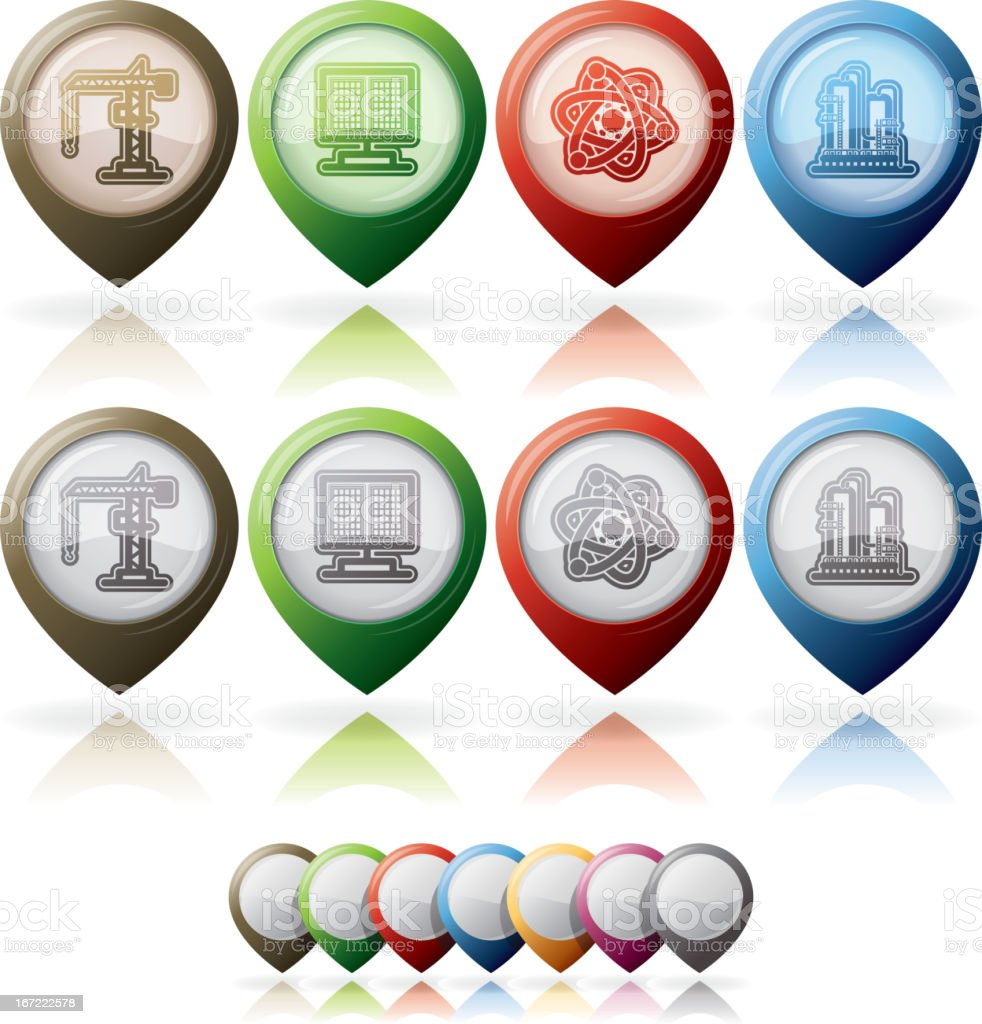 Industry Icons royalty-free stock vector art