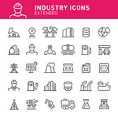 Fuel and power generation, energy, fuel, industry, icon, icon set, oil, electricity, power line
