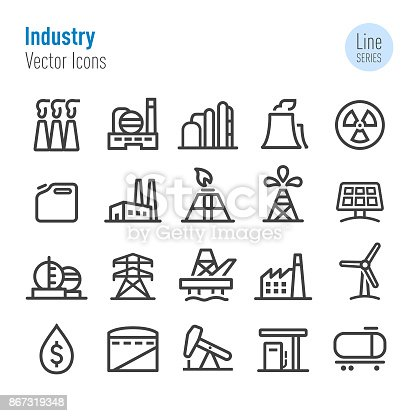 Industry, Factory, building, Power Station, Construction,