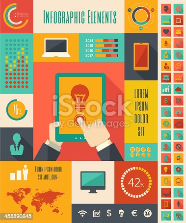 istock IT Industry Infographic Elements 458890645