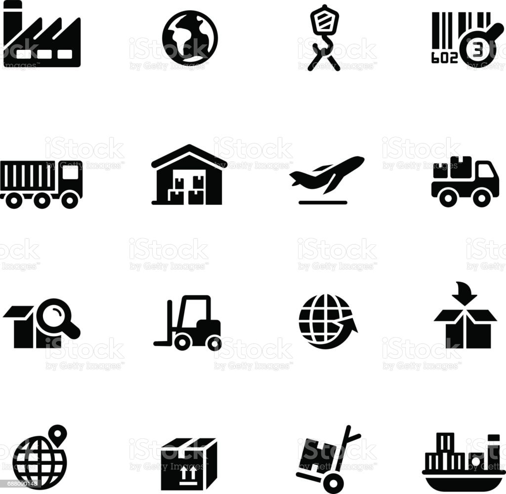 Industry & Logistics icons // Black Series
