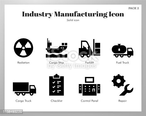 Industry manufacturing vector illustration in solid color design