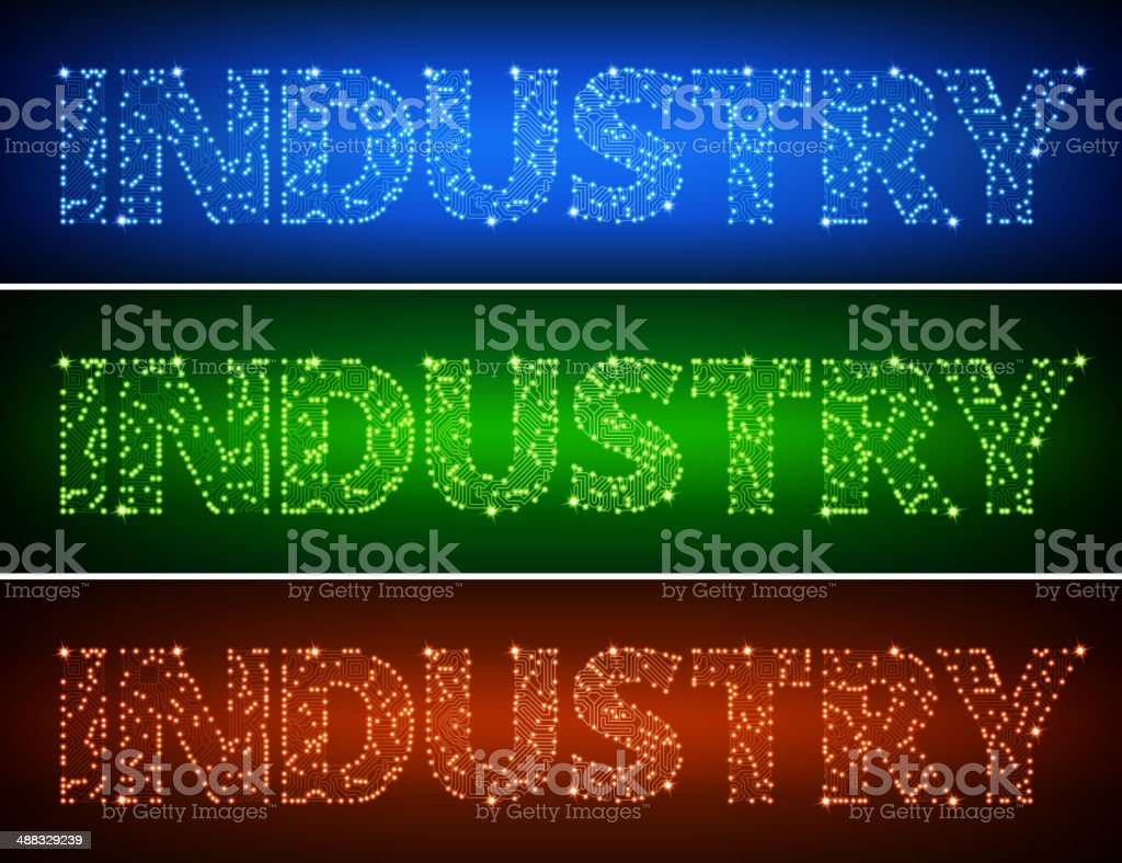 Industry on Circuit Board royalty free vector art vector art illustration