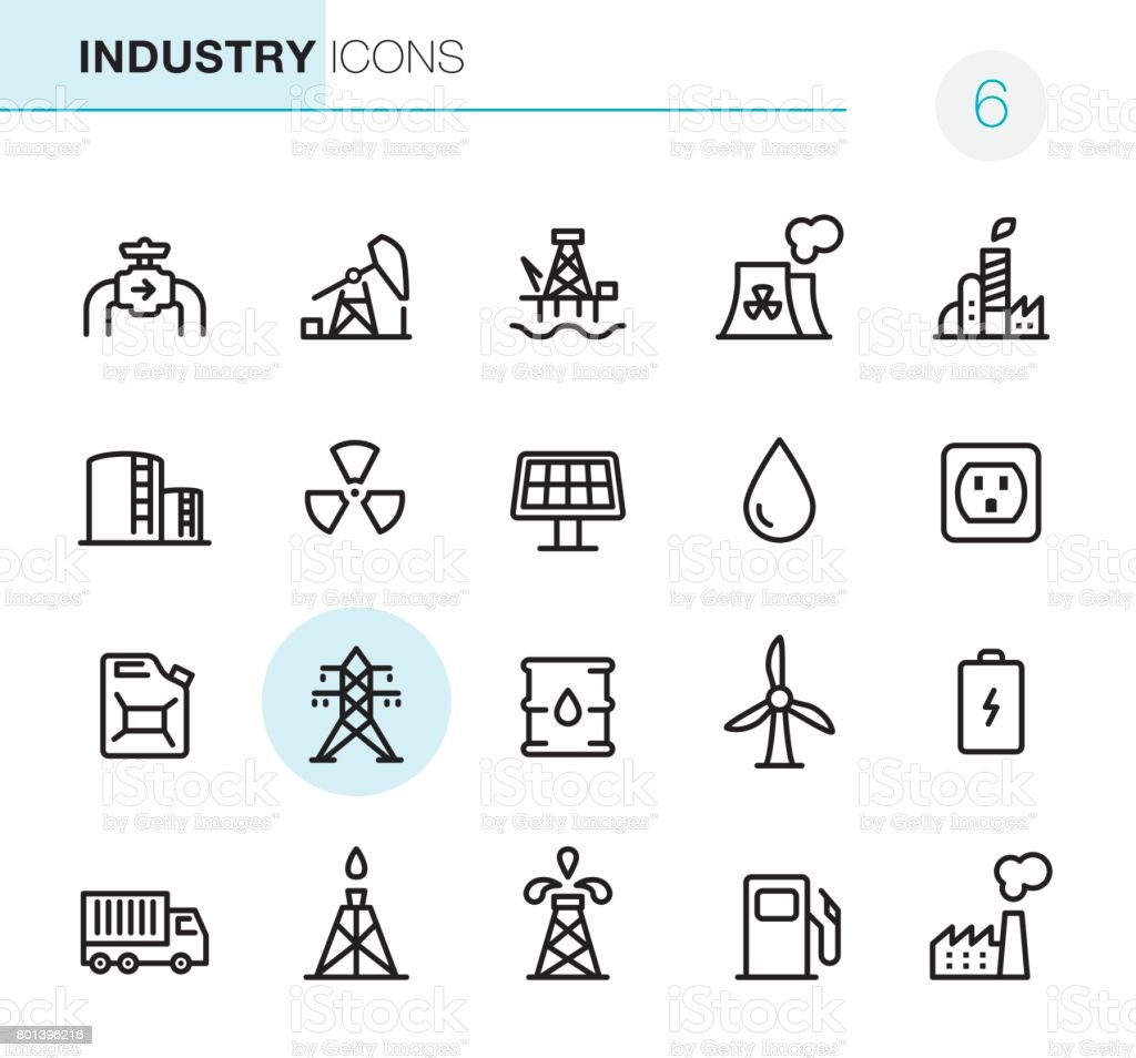 Industry - Pixel Perfect icons vector art illustration