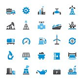 Industry related vector icons collection. Three-color palette / Isolated on white / Quartico set #69 / transparent png-24 version 5000×5000 px included