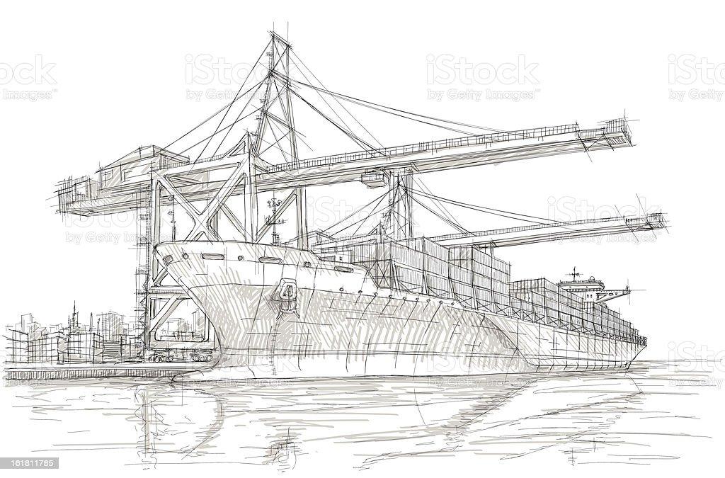 Industry vector art illustration