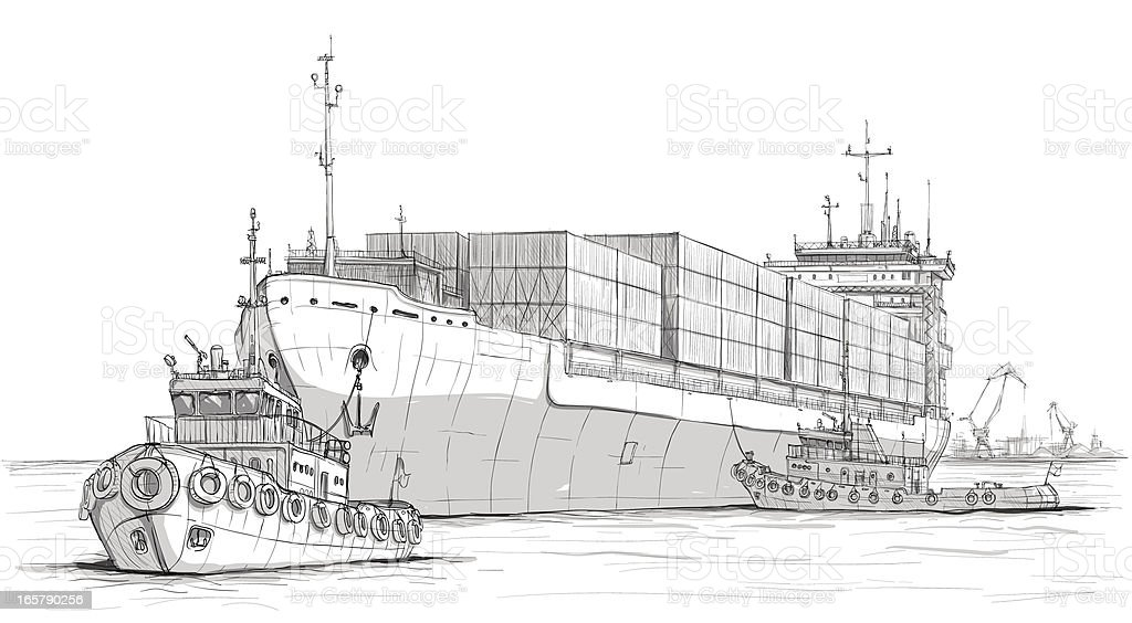 Industry royalty-free industry stock vector art & more images of anchored