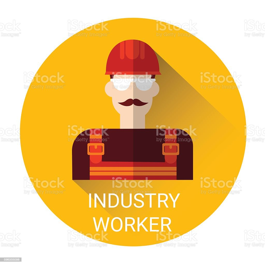 Industry Worker Icon royalty-free industry worker icon stock vector art & more images of business