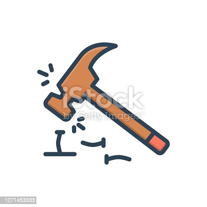 Icon for inefficient, hammer, screw, erroneously, unsystematic, unqualified
