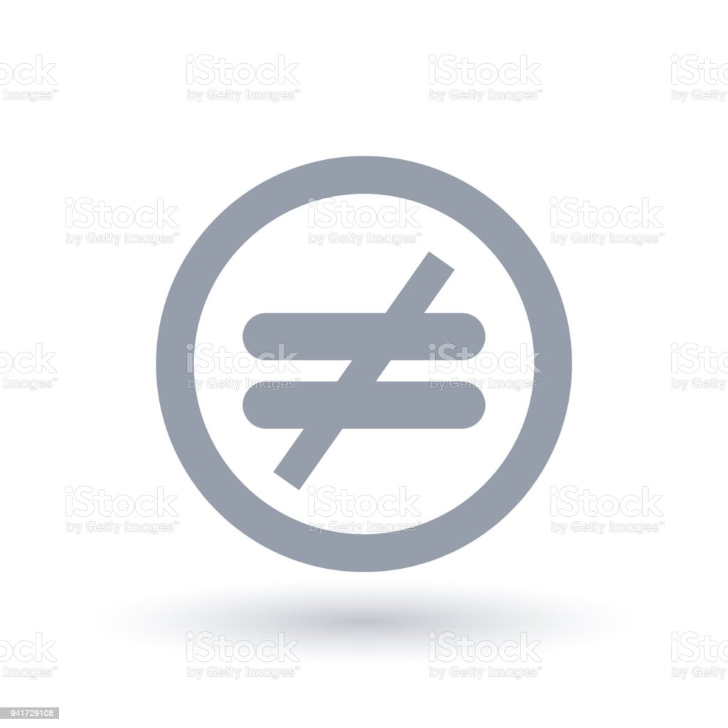 Inequality icon. Injustice symbol. vector art illustration