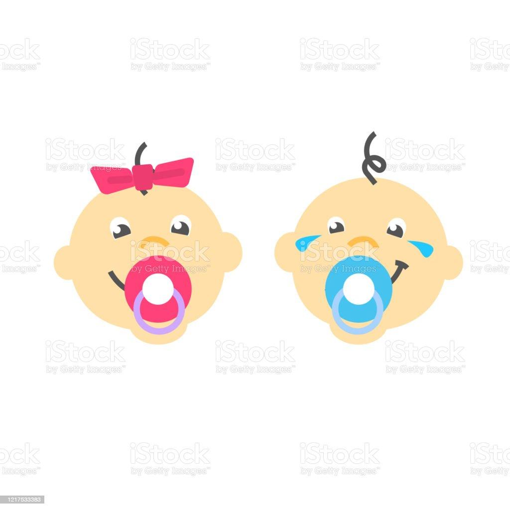Neugeborenes Baby Kinder In Windel Mit Schnuller Kriechen Mit Rassel Stock  Vektor Art und mehr Bilder von Auf dem Schoß - iStock