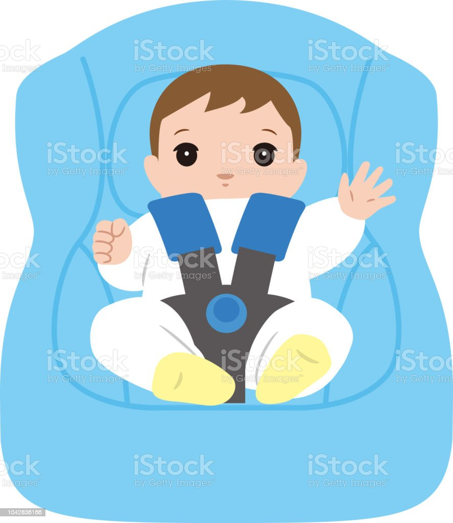Infant Car Seat And Baby Royalty Free Stock Vector Art