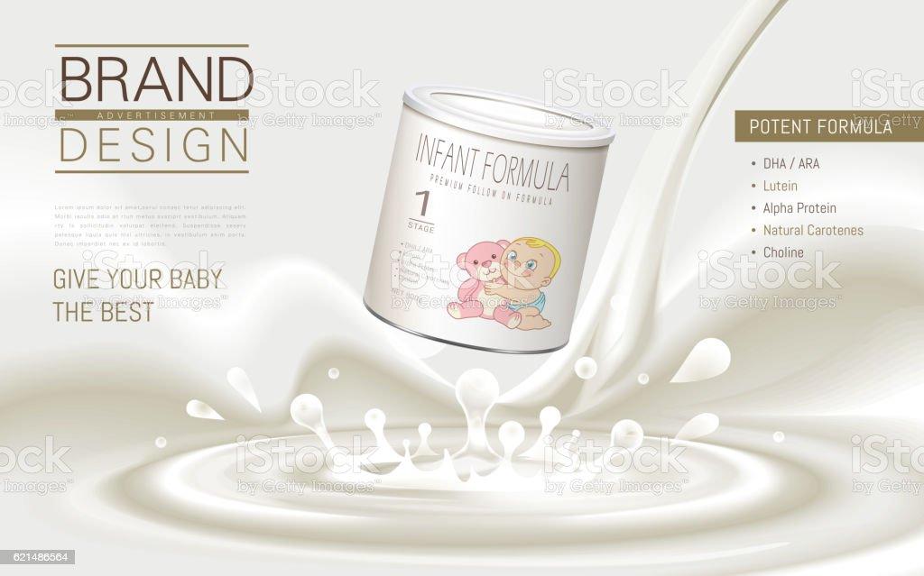 Infant formula advertisement infant formula advertisement - immagini vettoriali stock e altre immagini di arte royalty-free