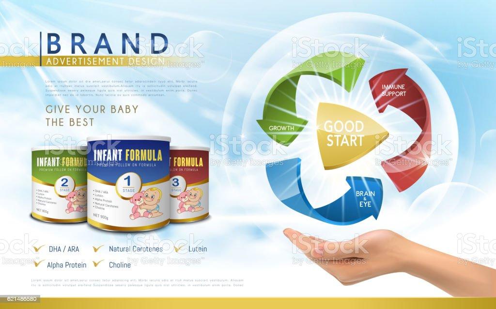 Infant formula advertisement infant formula advertisement – cliparts vectoriels et plus d'images de art libre de droits
